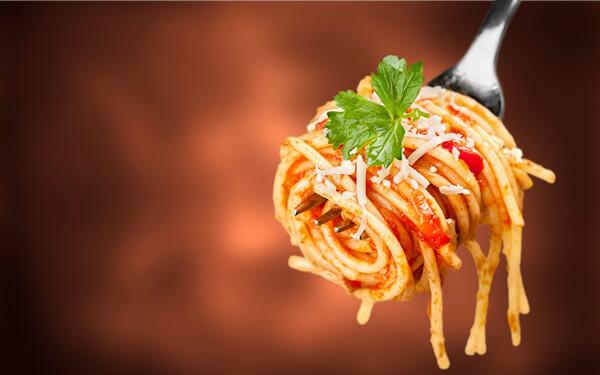 Aufgedrehte Spaghetti
